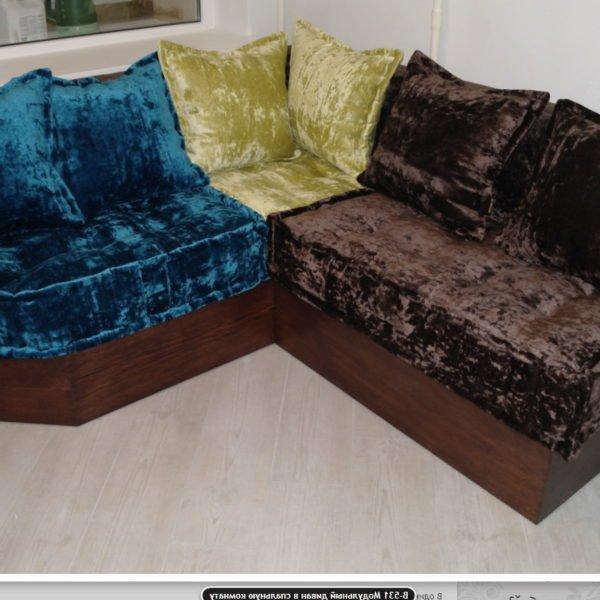 трехцветный авторский диван