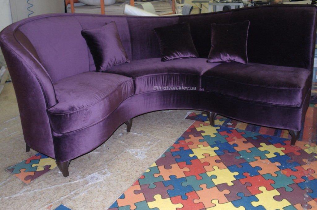 креативная софа фиолетовая