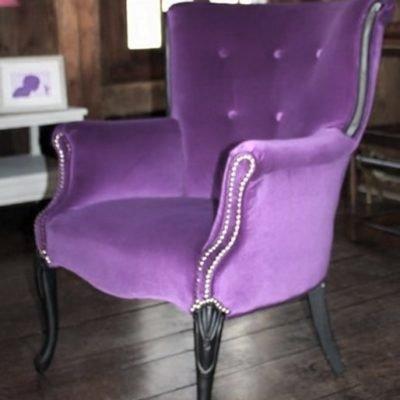 лиловое кресло