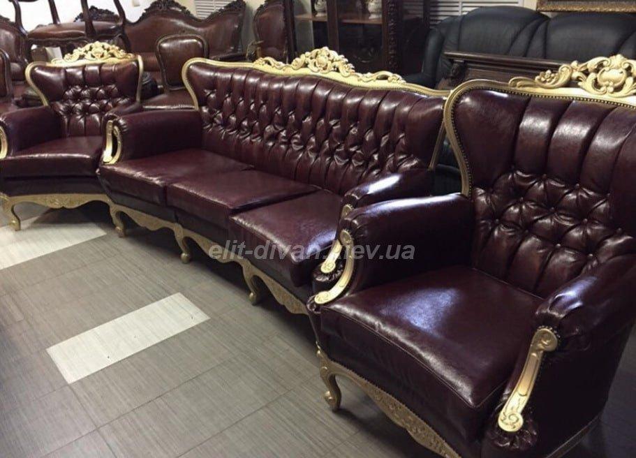 дорогой диван в стиле барокко на заказ