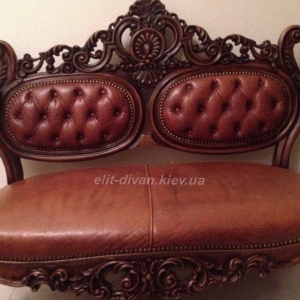 Кожанный диван барокко под заказ