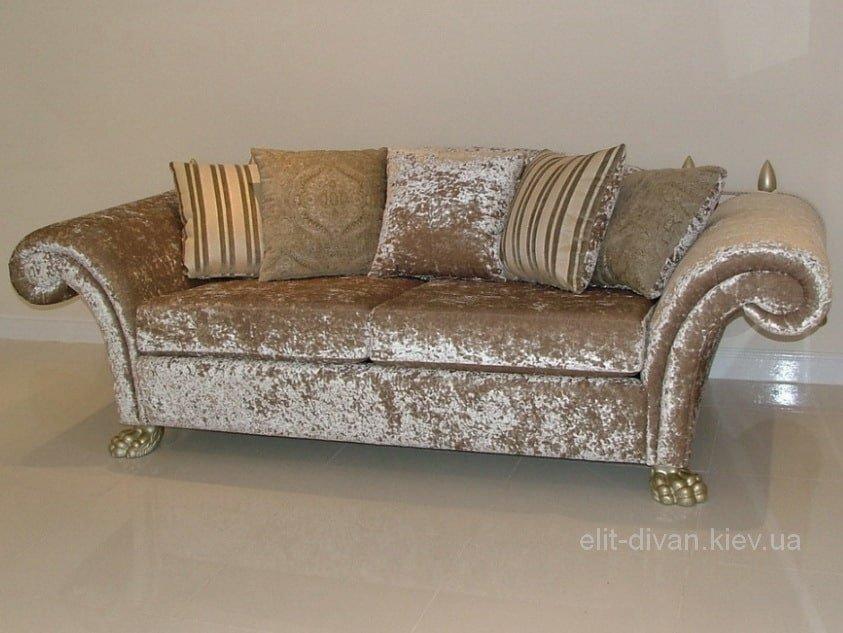 велюровый прямой диван