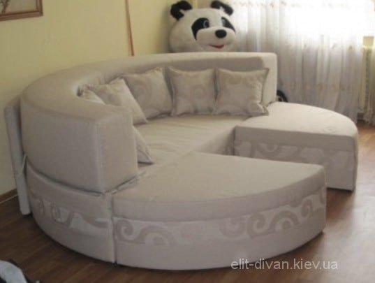 модульная радиусная белая кровать