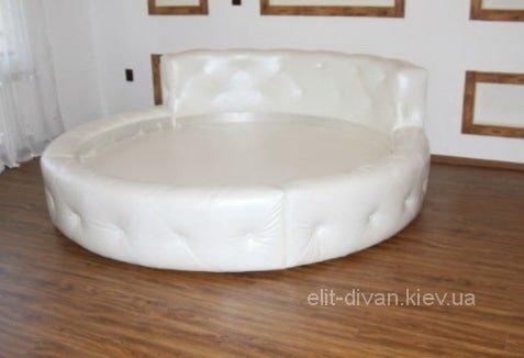 кровать круглая белая на заказ