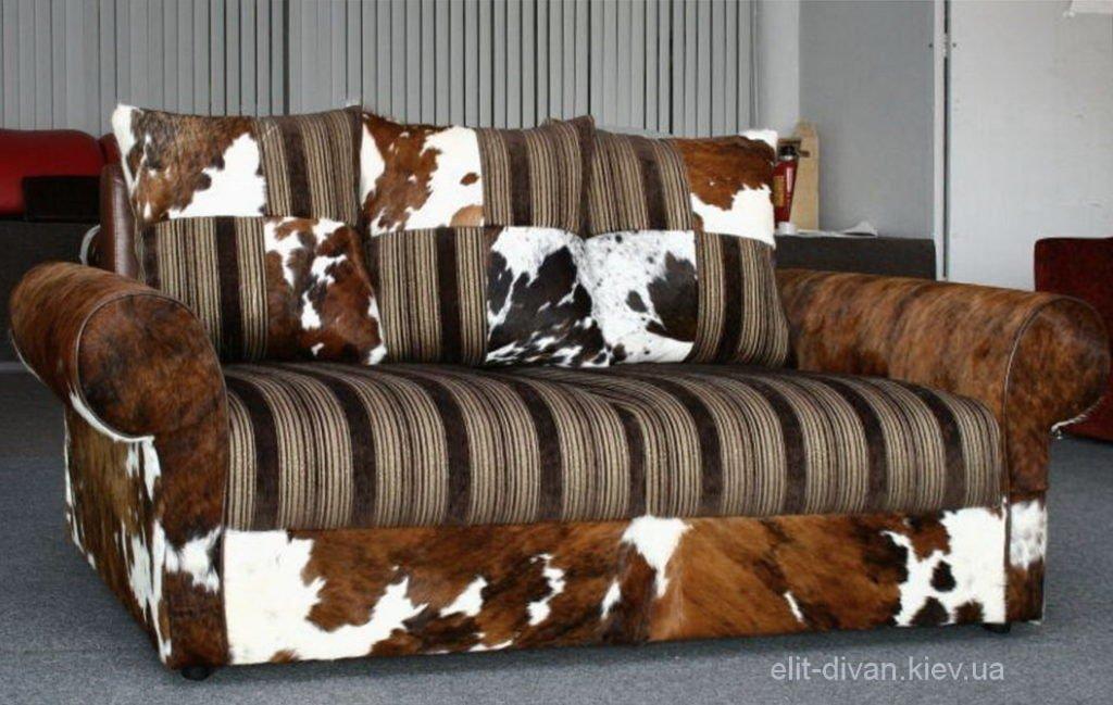 диван из коровьей кожи на заказ