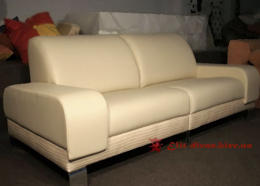 белый кожаный диван под заказ