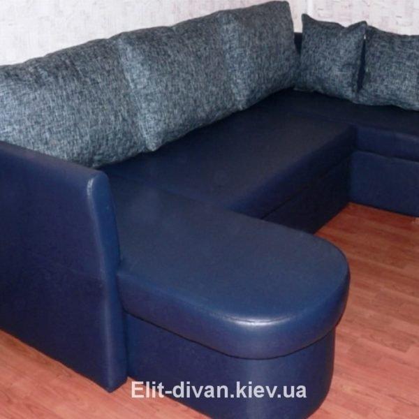 гладкий п-образный диван