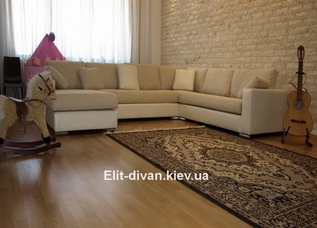 бежевый диван буквой п