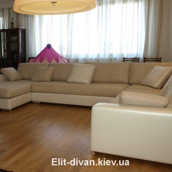 бежевый диван буквой п под заказ Киев