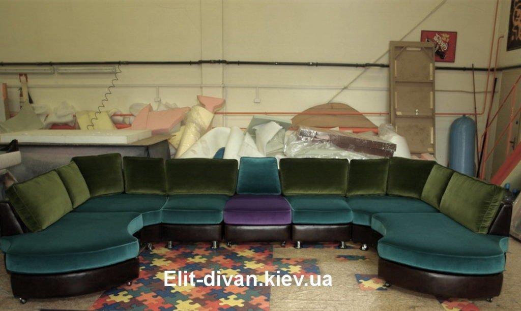 п-образный диван модульный