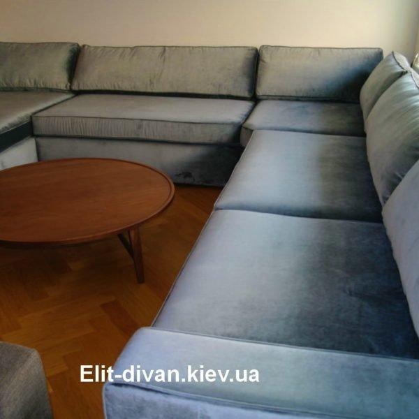 п-образный диван с подушками на заказ