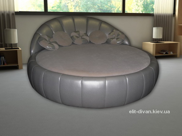 серый круглый диван