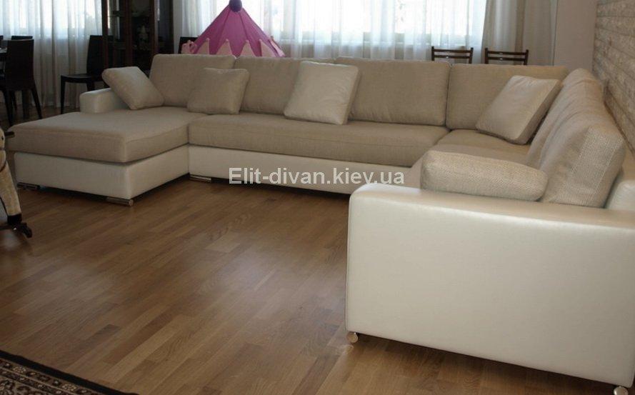 белый п образный модульный диван