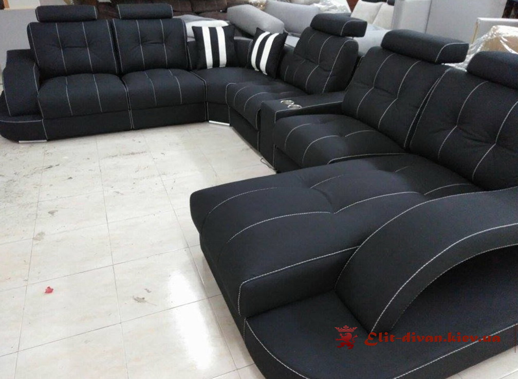 дорогой элитный классический диван черный