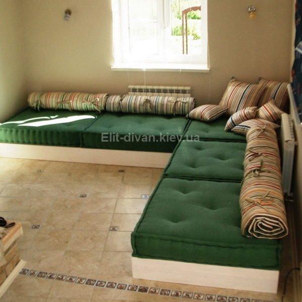зеленая мягкая мебель модульная