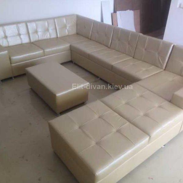 авторский диван с пуфиком