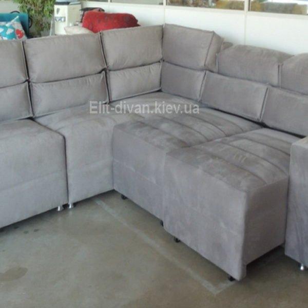 белый модульный диван со спальным местом