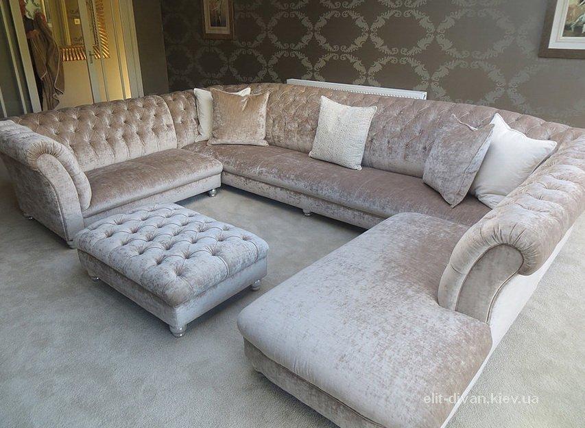 элитные с образные диваны под заказ Честер