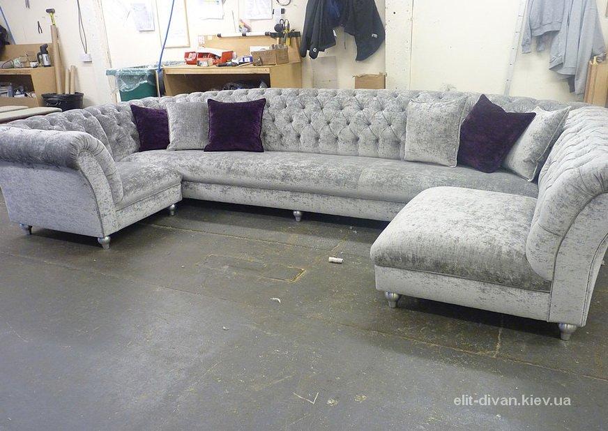 элитные с образные диваны под заказ Вишневое