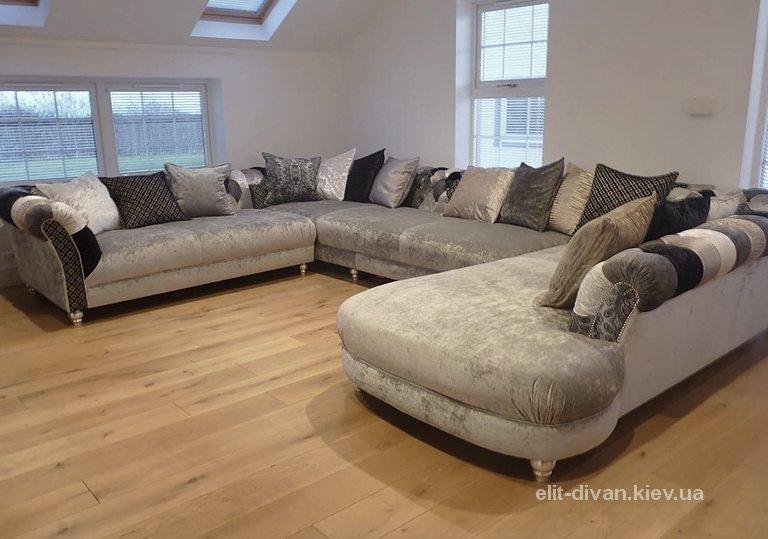 п образный диван на заказ