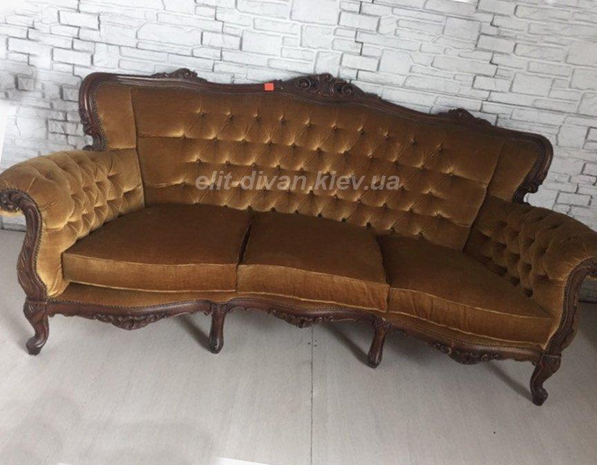 диван из кожи под рококо