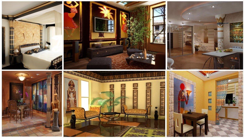 дизайн интерьера в египетском стиле мебель