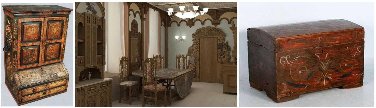 интерьер стиле Древней Руси
