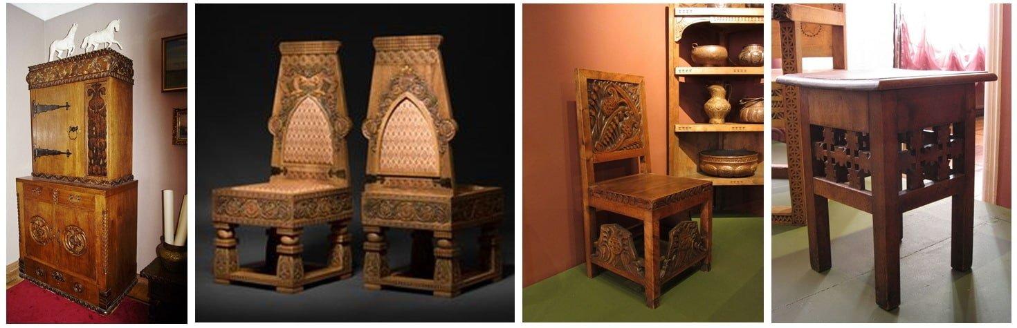 Мягкая мебель в дизайнерском стиле Древней Руси