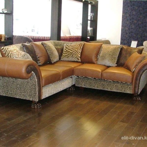 оранжевый угловой диван на заказ