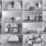 варианты модульной мягкой мебели