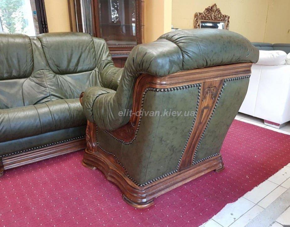 кожаное кресло эксклюзивного дизайна