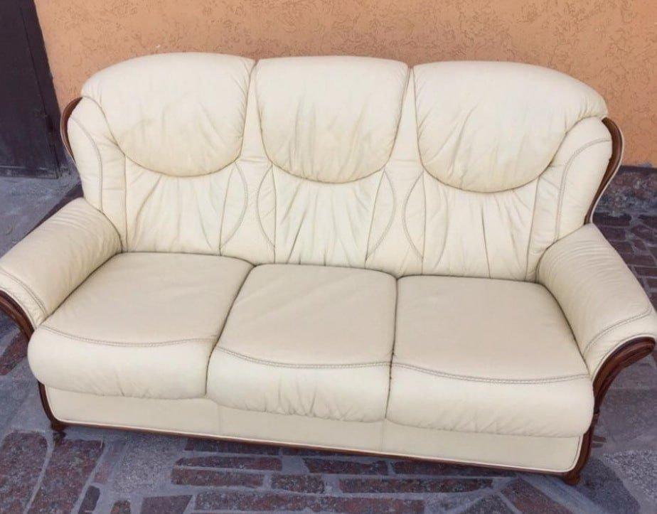 купить белый кожаный диван