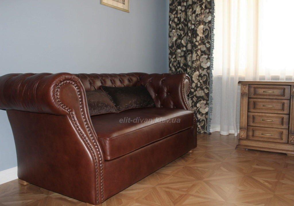 заказать классический кожаный диван