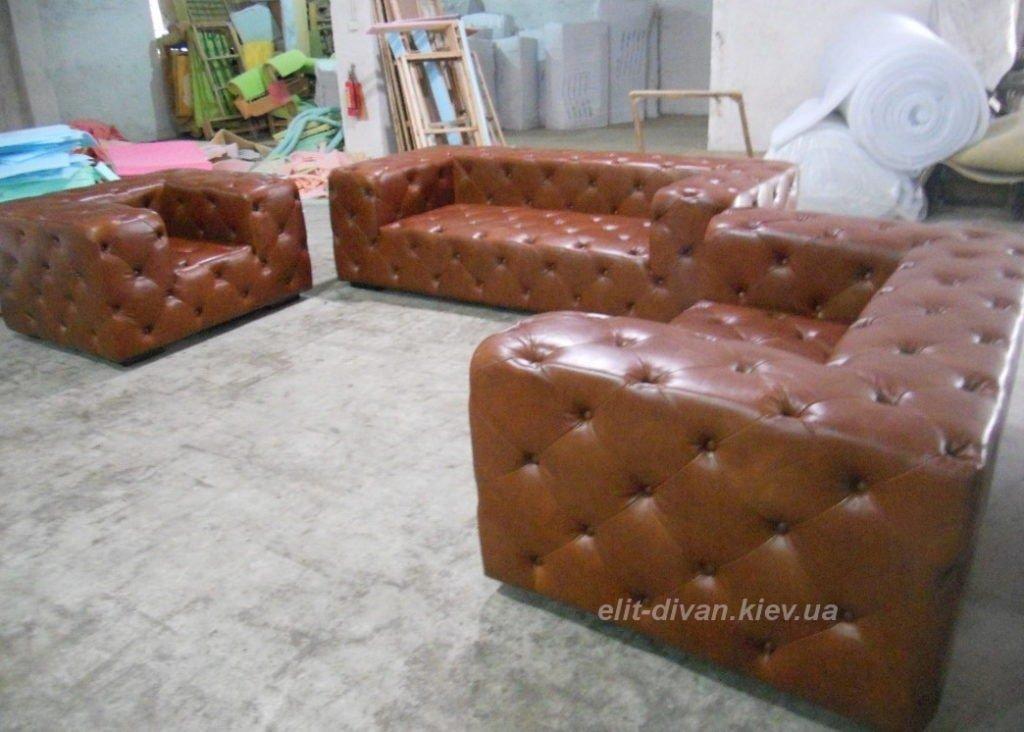 фотографии кожаных диванов