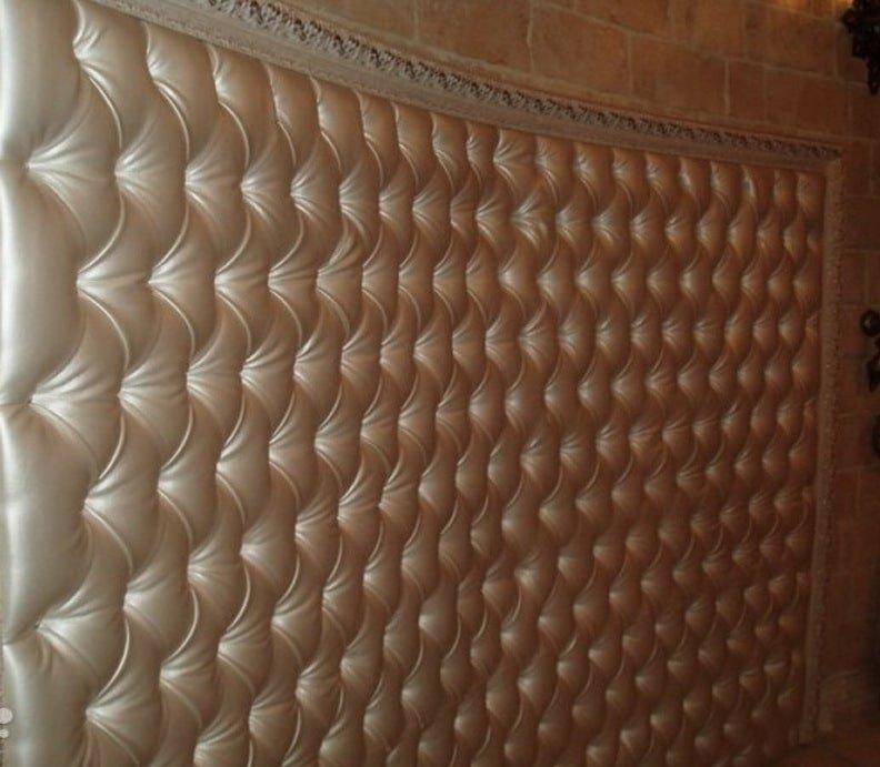декоративная панель из кожи