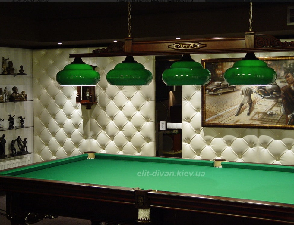 зеленая декоративная панель в клуб