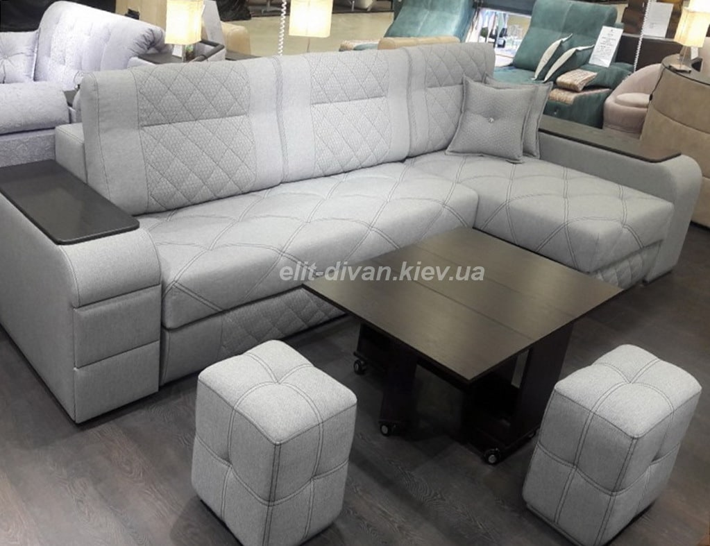 умный диван серого цвета