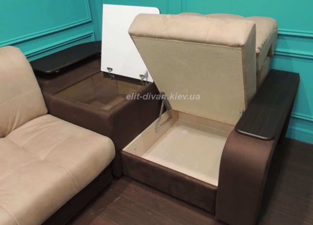 умный диван с ящиками