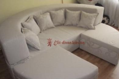 белая большая кровать круглая модульная под заказ в Ирпени