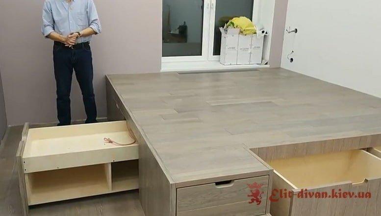 умная мебель подиум на заказ