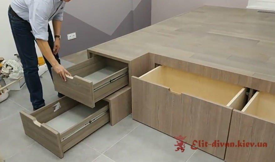 умная мебель подиум