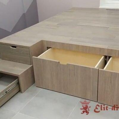 умная кровать подиум