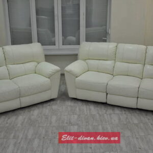 мягкая офисная мебель белого цвета