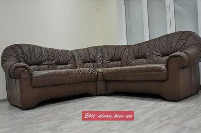 диван в офис из кожи на заказ