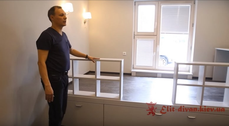 кровать подиум шкаф с ящиками