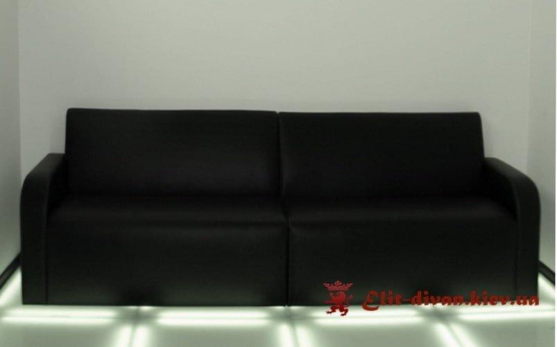 черный диван в офис
