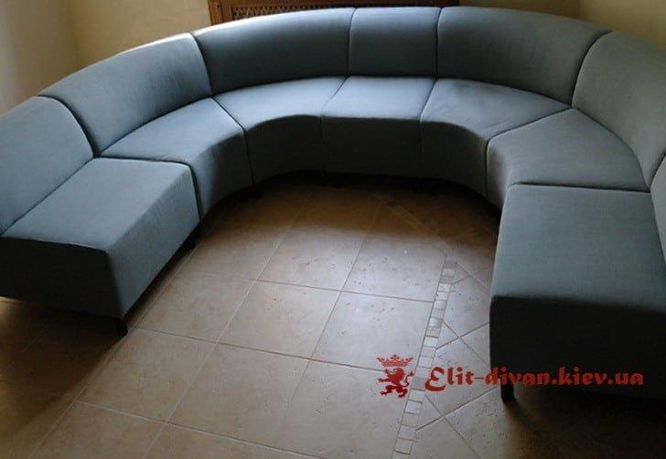 круглая мягкая мебель на заказ для офиса
