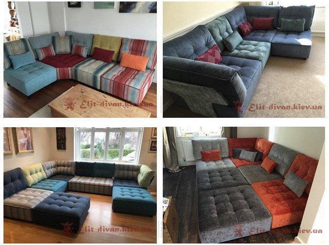 заказная мягкая мебель из мягких подушек