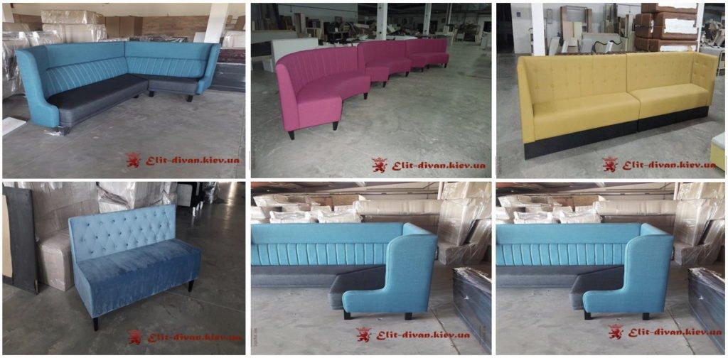 изготовление мягкой мебели для ресторана на заказ