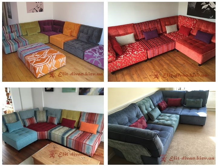 дизайнерский бескаркасный диван под заказ